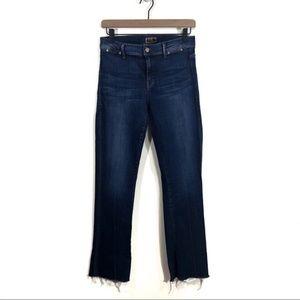 Mother The Daydreamer Frayed Hem Jeans Inseam 32